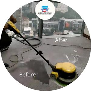 Before - After Jasa Cuci Karpet Kantor Jakarta Pusat
